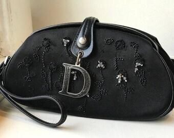 Vintage Christian Dior Black purse with beadwork