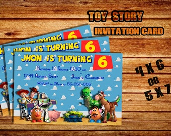 Toy Story invitation card