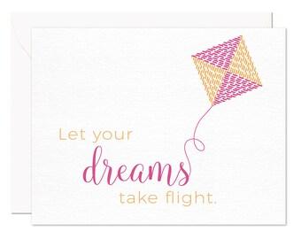 Let Your Dreams Take Flight - Letterpress Cards