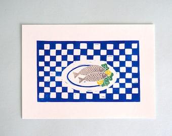 Print fish for dinner