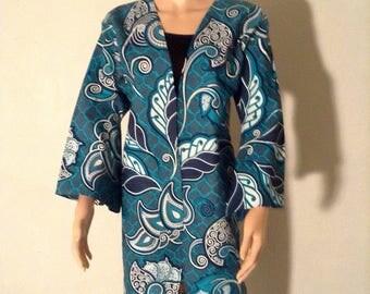 Jacket kimono coat wax certifies 52/48/50/46.