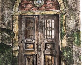 Door Study #3  Watercolor