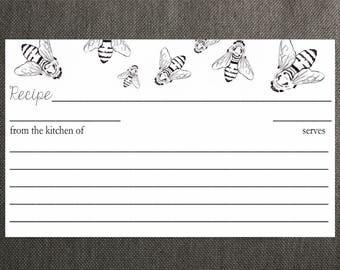 Honey Bee Recipe Cards