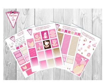 Baby Safari  Kit - Printable Erin Condren Weekly Kit w/Cut Line