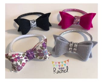 Assorted Small Hair Bows on Bobbles