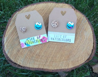 Cookie monster earrings (2 designs) / / pending Monster cookies (2 models)