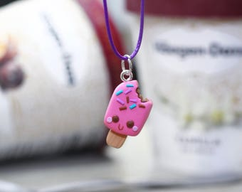 Popsicle charm, ice cream charm, necklaces , jewelry clay charms .