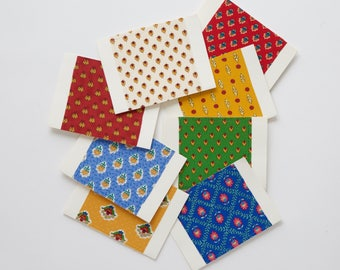 notecards with fabric prints from Provence, France