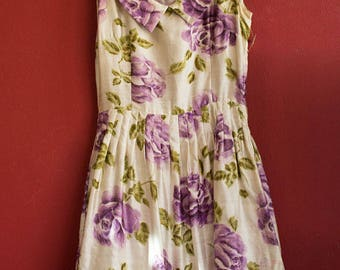 Original 50's Silk Dress with original pettycoat