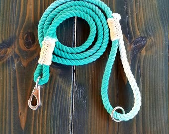 Teal Ombre Rope Leash