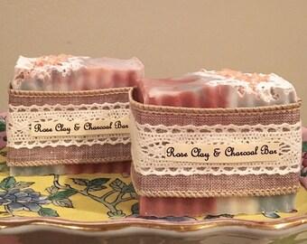 Rose Clay & Charcoal Bar