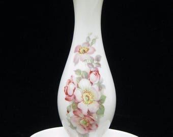 West Germany Tettau Bavaria Bud Vase & Trinket Floral Porcelain Gerold Porzellan