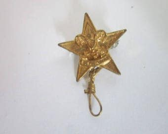 1940's Boy Scouts of America Rank Pin Pinback Star Scout