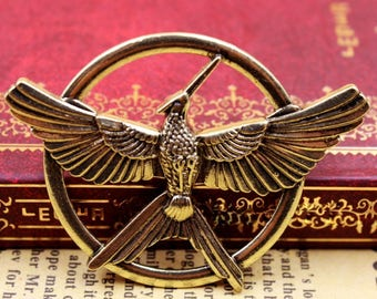 The Hunger Games Movie Inspired Mockingjay Bird Brooch Badge Pin Cosplay
