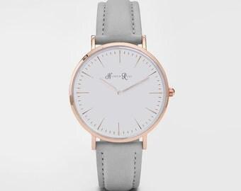 Cheap Leather Watch, Ladies Watch, Girls Watch, Brown Leather Watch, Leather Watch, Christmas Gift, Birthday Gift, Minimalist