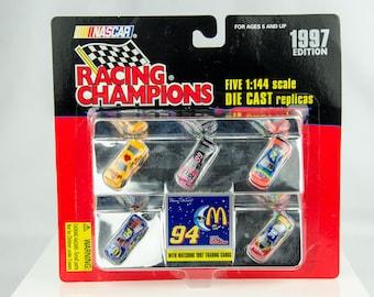 Racing Champions 1997 Edition 5 Car Set 1/144 Scale Diecast Nascar Bill Elliott