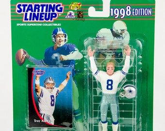 Starting Lineup 1998 NFL Troy Aikman Action Figure Dallas Cowboys