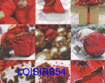 Paper towel balls Christmas 33 cm x 33 cm