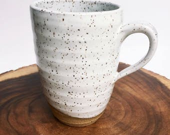 ONE White With Speckles Large Coffee /Tea Mug