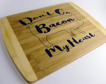 "Bacon Inlay Cutting Board - 14"" x 10"""