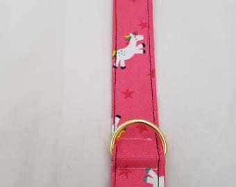 Pink Unicorn Print Dog Collar