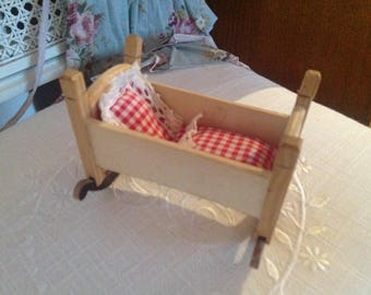 Very old cradle for the doll's house/Doll Parlor