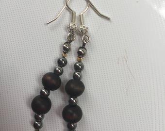Black Silver Earrings - series Irma N5