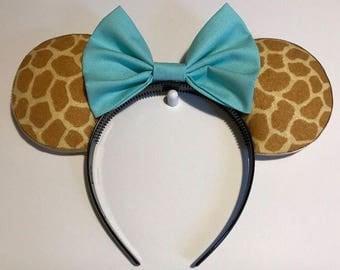 Giraffe print mickey ears!