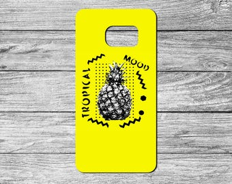Fun Tropical Pineapple Print TPU Case For Samsung Galaxy S6, S7, S8 (S6456)