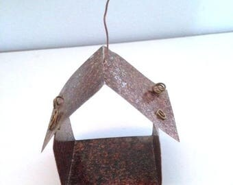 Metal Hanging Fairy Hut