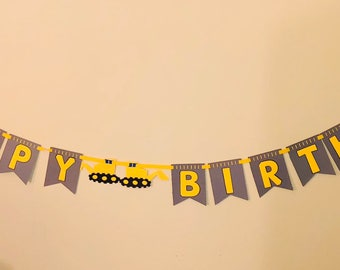 Construction Birthday Banner-Trucks Birthday Banner-boy Birthday-Digger Boy Birthday-Trucks Happy Birthday