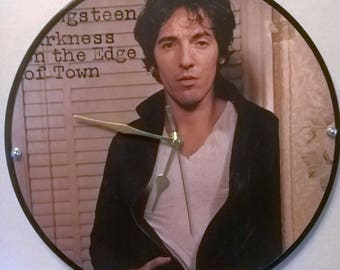 Bruce Springsteen Darkness on the edge of town Front Cover Album Rock Clock