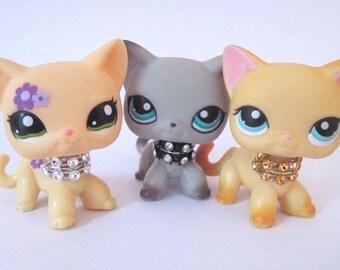 Littlest Pet Shop accessories clothes 3pc random collars LPS Pets NOT INCLUDED