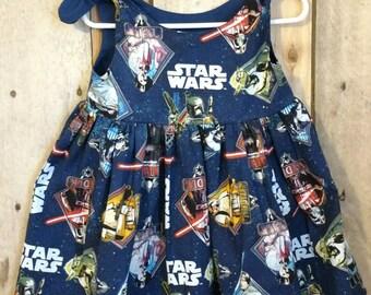 Star wars dress,star wars baby dress,baby dress,infant dress, galaxy dress,baby galaxy dress,star wars toddler dress