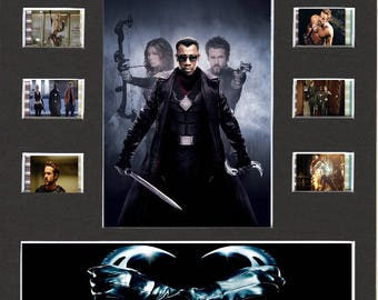 Blade Trinity replica Film Cell Presentation 10 x 8 Mounted 10 cells
