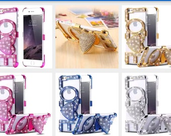 LUxury crystal bling diamond stand hard case for iphone 6s