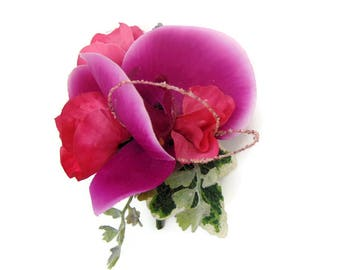 Artificial Silk Orchid Corsage boutonniere Free Delivery