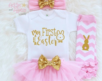 Baby first easter etsy my first easter 2018 baby first easter outfit baby easter clothes baby 1st negle Images