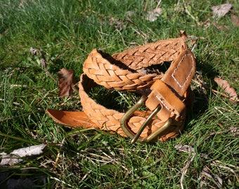 Leather belt, braided leather belt women, vintage leather belt, hippie leather belt, boho leather belt, bohemian belt, festival belt, boho
