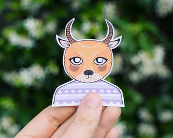Harold the Antelope - waterproof & removable art stickers