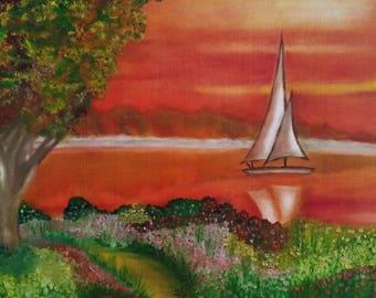 Serene Sailboat - Print