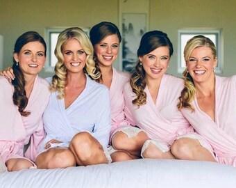 Bridesmaid robes, Bridesmaid robes set, bridal robe, bridesmaid robe, personalized Bridesmaid robes, set of 2, 3, 4, 5, 6, 7, 8, 9, 10