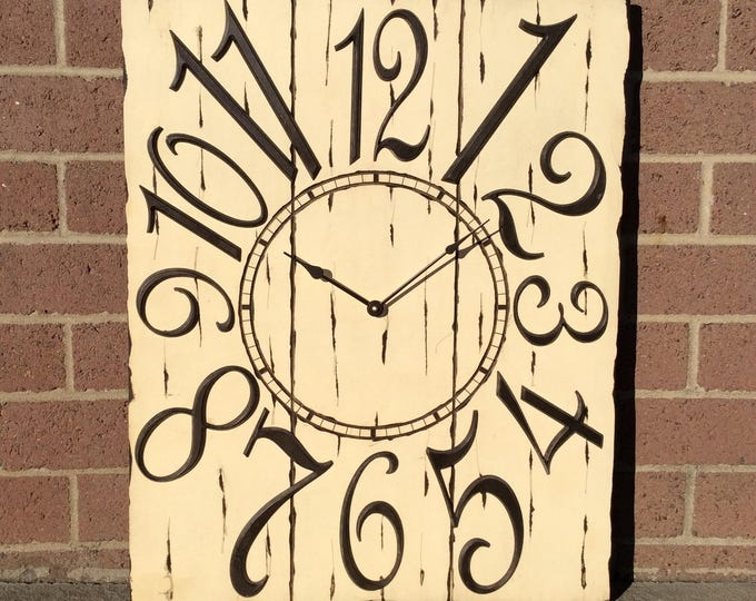 "24"" x 30"" Classic Rectangle Wall Clock, Custom Wall Clock, Wall Clock, Rectangle Wall Clock, Large Wall Clock"