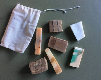 MIXED BAG - Soap Samples, Soap Sampler, Organic Soap, Natural Soap, Handmade Soap,