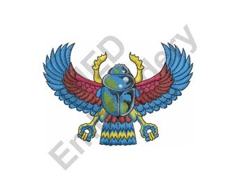 Egyptian Scarab - Machine Embroidery Design