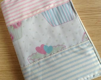 Pretty fabric covered notebook