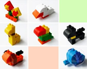 Iwako Japanese Animal Building Block Eraser / Puzzle Eraser - Buy Single Item or Discount for Multiple Items