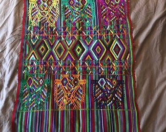 Handwoven textile from Guatemala.
