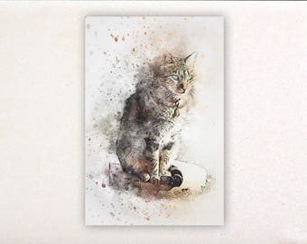 Cat - Watercolor prints, watercolor posters, nursery decor, nursery wall art, wall decor, wall prints 7 | Tropparoba 100% made in Italy