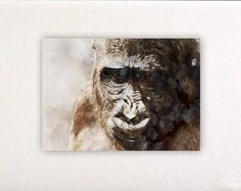 Gorilla - Watercolor prints, watercolor posters, nursery decor, nursery wall art, wall decor, wall prints | Tropparoba - 100% made in Italy